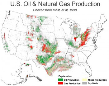 Oil And Gas Purchasers Exploration Production Secondary Recovery - Us-oil-fields-map